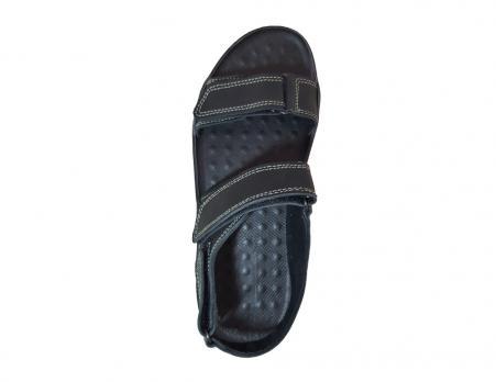 Сандалии кожаные ALS L-050 (черный)
